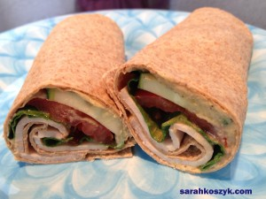 Turkey Hummus Wrap