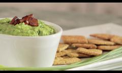 Green hummus Crackers