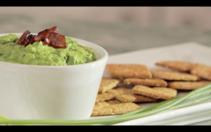 Green hummus Crackers